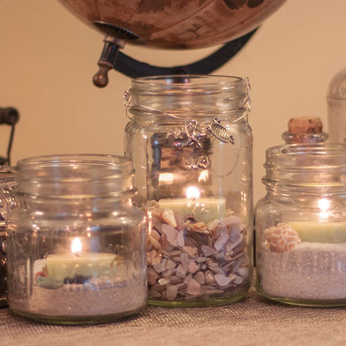 Mason Jar Tealight Holders