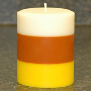 Layered Pillar Candles with Soy Wax