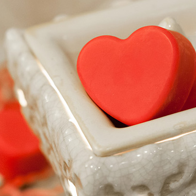 DIY Heart Shaped Wax Melts