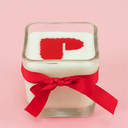 Embedded Heart Container Candle