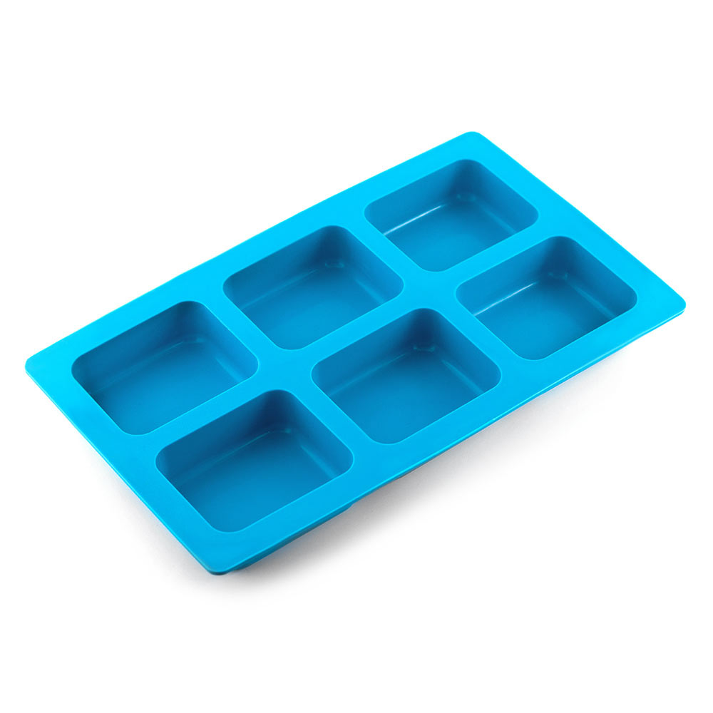 6 BAR ROUNDED RECTANGLE SILICONE MOLD