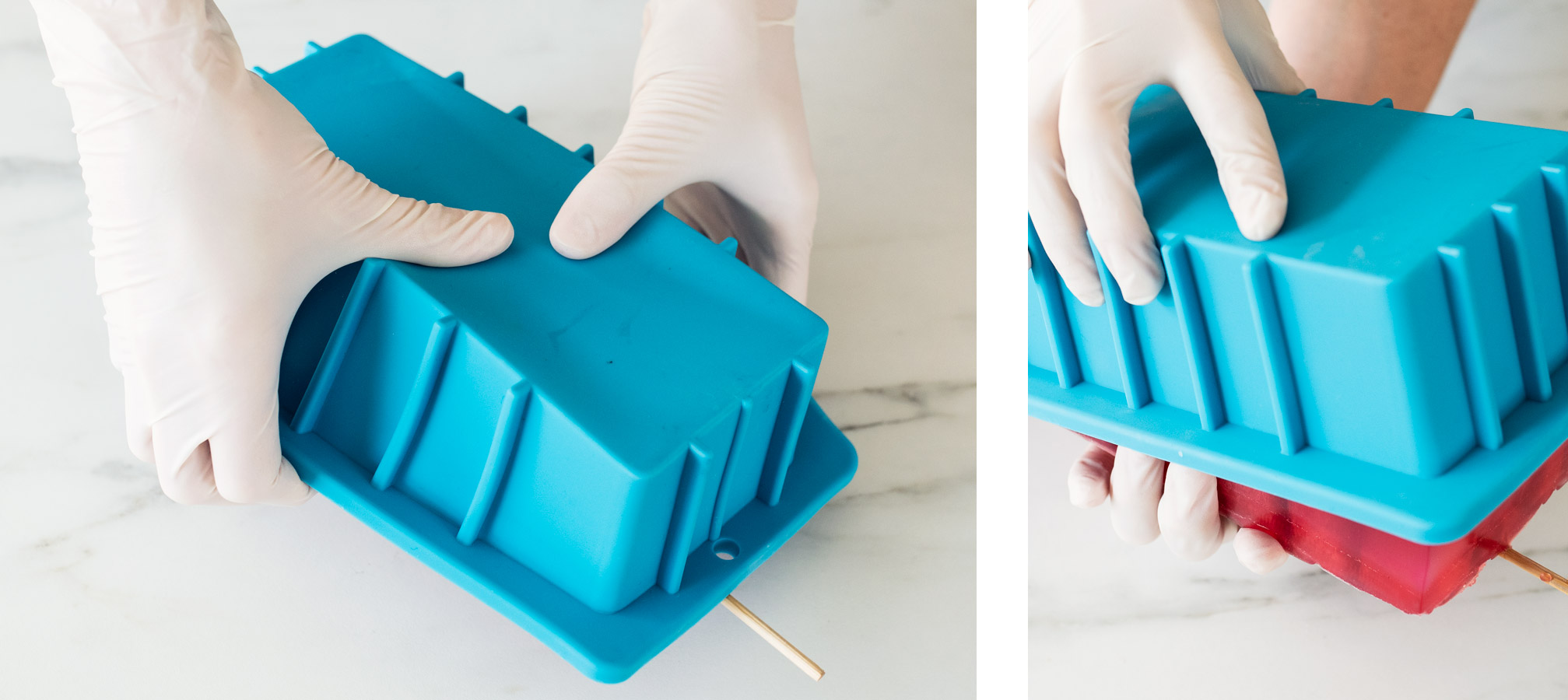 Removing soap from silicone mold