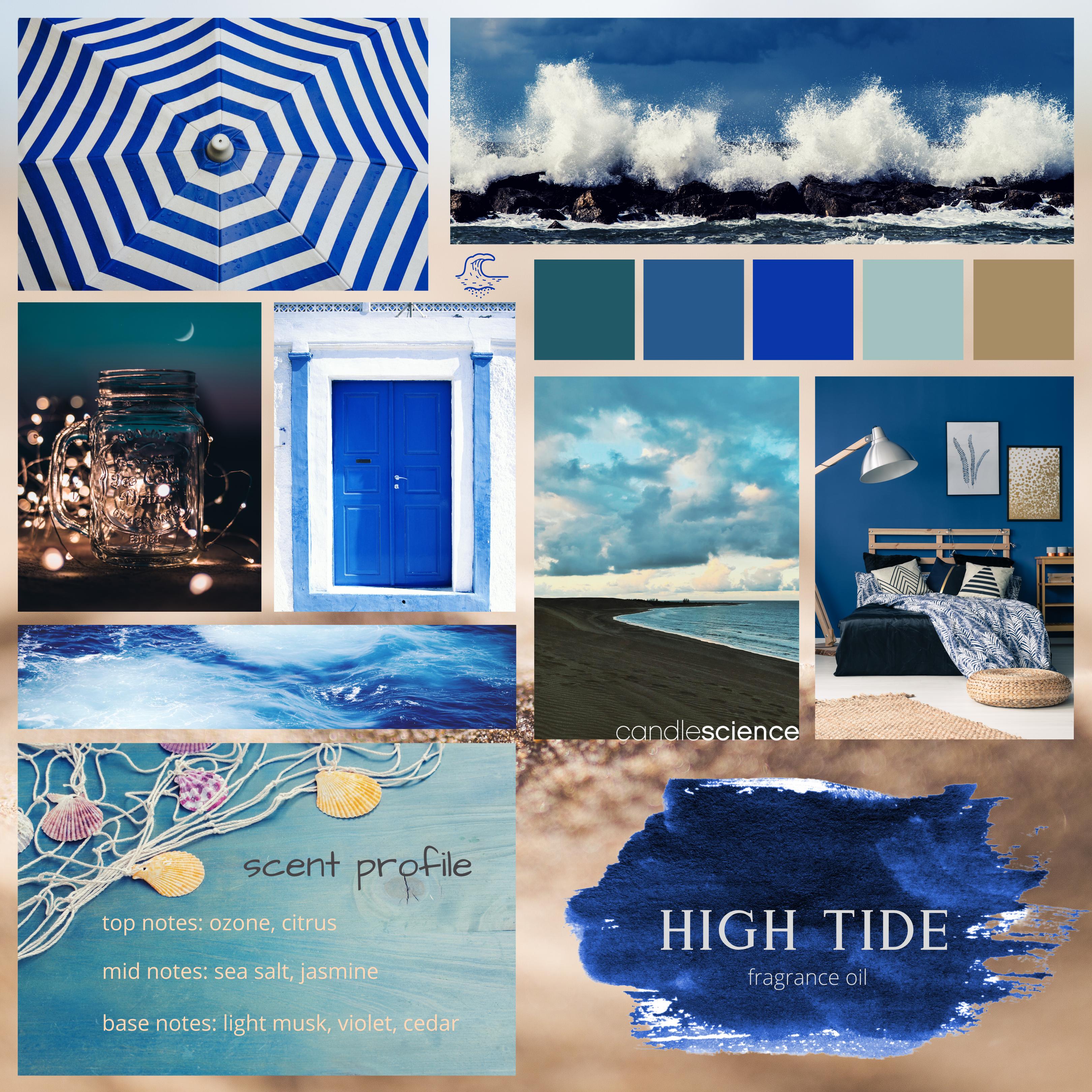 High Tide fragrance oil mood board